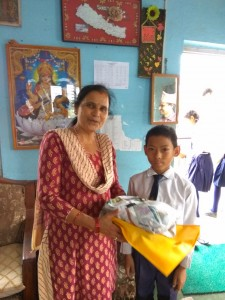 Dinesh Pradhan, class 5 thanks for school support