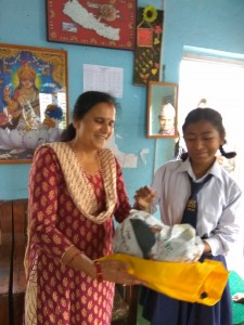 Ishika Thapa Magar, class 8 thanks for school support