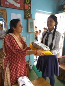 Junu Kasthya class 8, thanks for school support