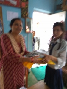 Meena Subba class 7 thanks for school support