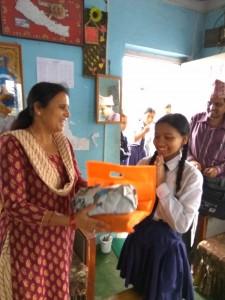 Monika Pariyar class 8 thanks for school support