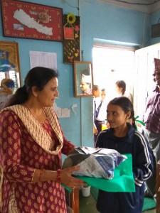 Ranjana Basnet class 4 thanks for school support