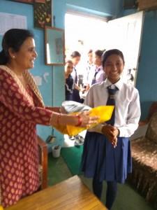 Rita Pariyar class 9 thanks for school support